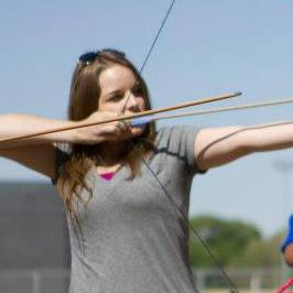 Writer Courtney Lewallen Shoots Bow and Arrow